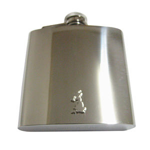 Great Britain Map Shape 6oz Flask